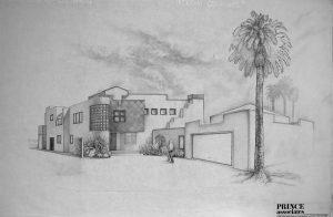 Street view rendering. Santa Barbara west Mesa project.