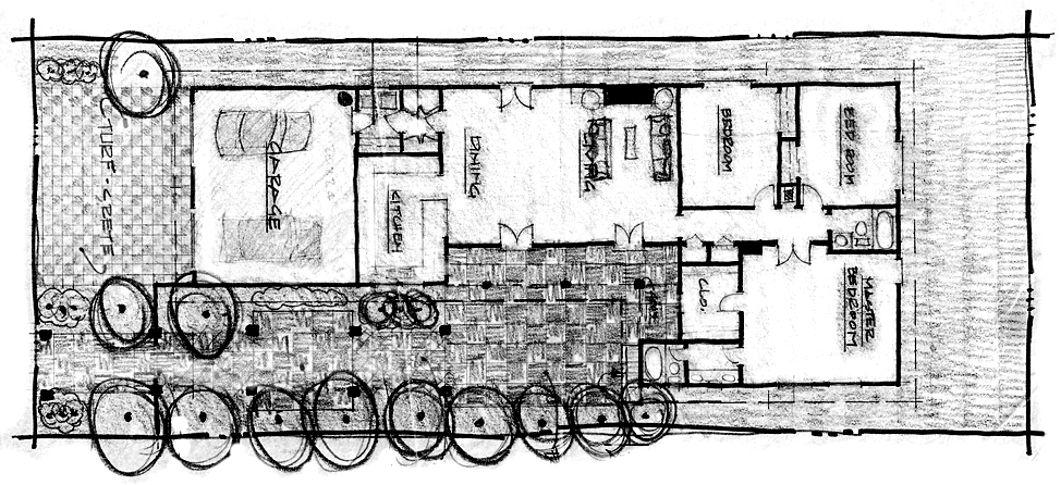 Oxnard Project - Floor Plan & Site Sketch - Roy Prince Architect ...