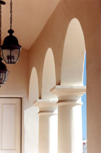Guest House, Santa Barbara Style, Columns, Arches & Arcade - Old San Marcos Road - Roy Prince Architect Traditional Residential Architecture Oxnard Ventura
