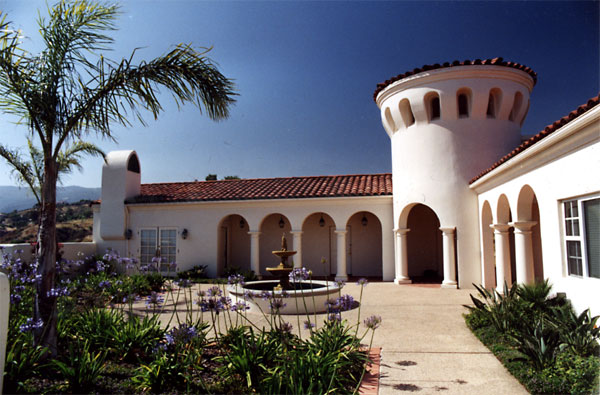 Roy Prince Architect, Architecture, Placemaking & Walkability, Guest House - Santa Barbara Style - Tower, Columns & Arches